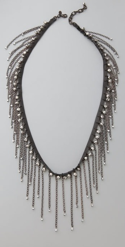 ACB by Annie Costello Brown Fringe Sparkle Necklace