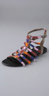 Antik Batik Squaw Spartiates Beaded Gladiator Sandals