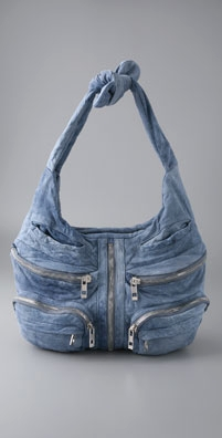 Alexander Wang Denim Leather Donna Hobo