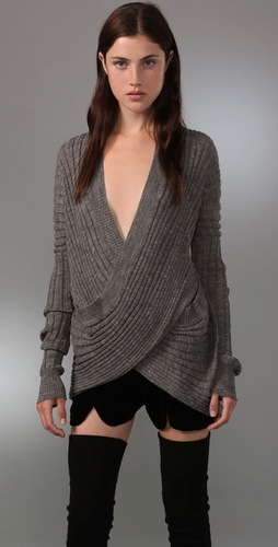 Alexander Wang Wide Rib Wrap Top from shopbop.com