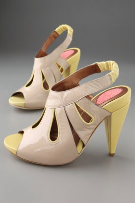 Banfi Zambrelli Kelsey Teardrop Open Toe Sling Back Pump - shopbop.com from shopbop.com