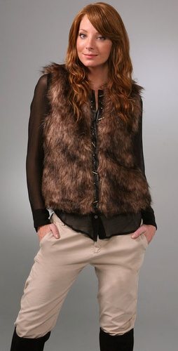 BB Dakota Ashland Faux Fur Vest from shopbop.com
