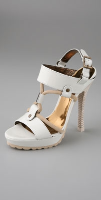 Barbara Bui Two Band Platform Sandals with Ripple Sole - shopbop.com from shopbop.com