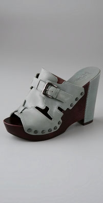 Belle by Sigerson Morrison Wooden Platform Slide Sandals - shopbop.com from shopbop.com
