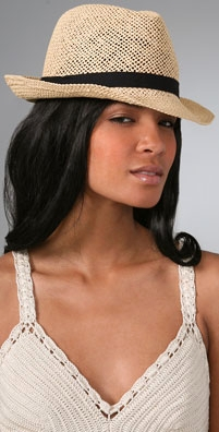 Bop Basics Open Weave Fedora with Navy Band