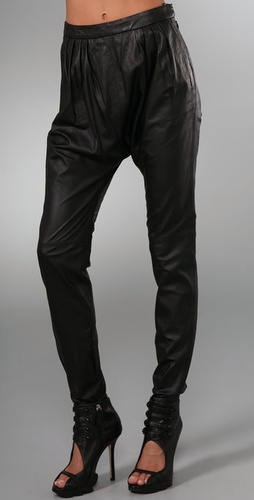 By Malene Birger Chicoree Leather Harem Pants from shopbop.com