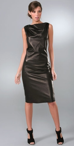 Calvin Klein Collection Ryan Leather Dress