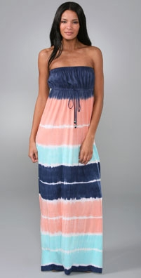 C&C California C&C Beach Tie Dye Stripe Long Dress