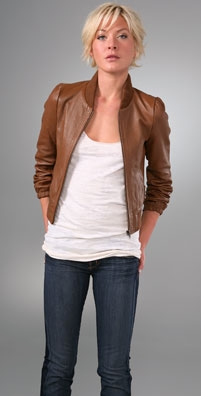 Candela Leather Bomber Jacket