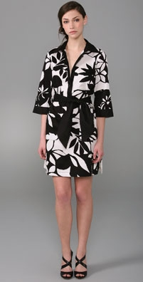 Catherine Malandrino Tie Waist Shirtdress