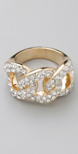 Pave Chain Link Ring - CC SKYE from shopbop.com