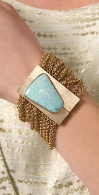 Citrine by the Stones Sheba Turquoise Cuff