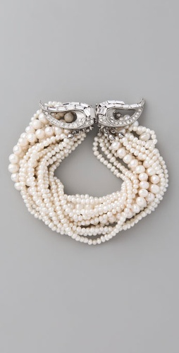 Club Monaco Divine Pearl Bracelet from shopbop.com