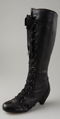 Corso Como Cable Lace Up Inside Zip Boot