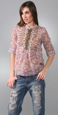 A Common Thread Floral Long Sleeve Top