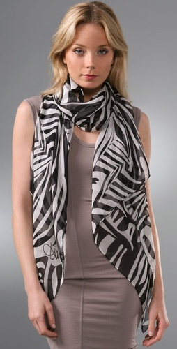 Diane von Furstenberg Washed Zebra Scarf