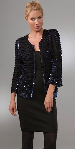 Diane von Furstenberg Axelle Sequin Jacket from shopbop.com