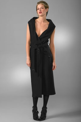 Derek Lam Draped Collar Trench Coat Dress