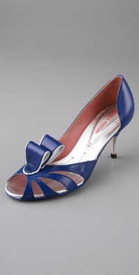 Eileen Shields Marilyn Open Toe Curl Pumps