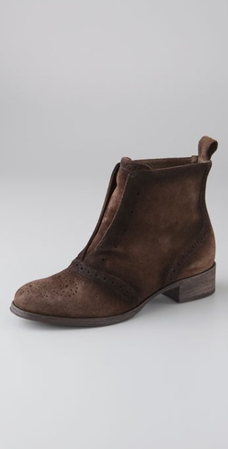 Elizabeth and James Goody Mantailored Suede Ankle Booties