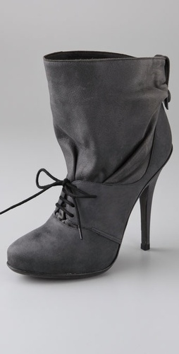Elizabeth and James Valley Soft Cuff High Heel Lace Up Bootie