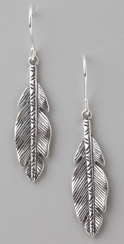 Elizabeth and James Feather Earrings