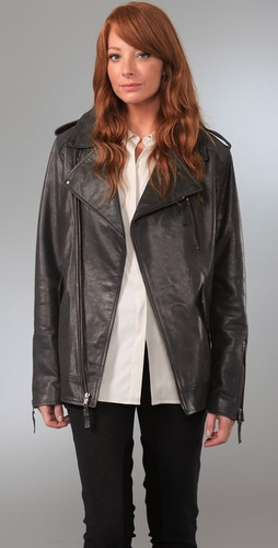 Elizabeth and James Boyfriend Biker Leather Jacket from shopbop.com