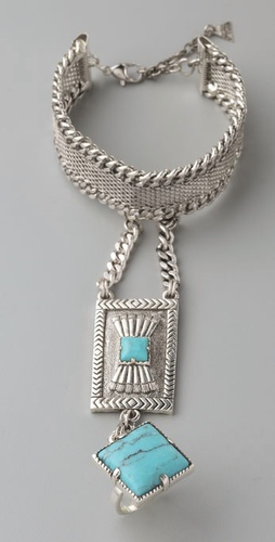 Fortune Favors the Brave - Concho Chain Hand Piece from shopbop.com