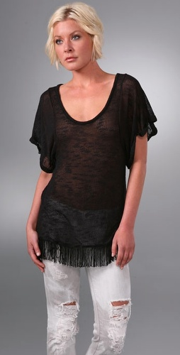 Free People Fringe Top
