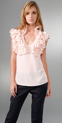 Geren Ford High Ruffle Top