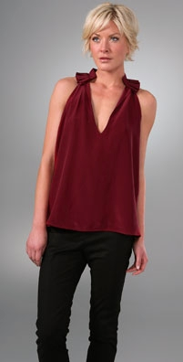 Geren Ford Ruffle Neck Top