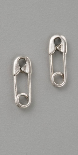 Giles &amp; Brother Tiny Safety Pin Studs