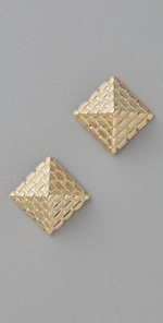 Pyramid stud earrings with a glam twist! featured on Shopalicious.com