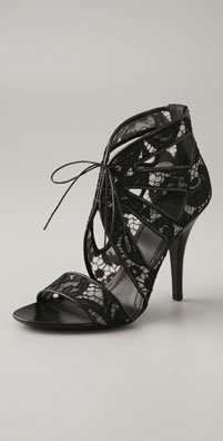 Givenchy Shoes Lace Open Toe Sandal Bootie - shopbop.com from shopbop.com