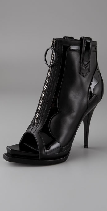 Givenchy Shoes Open Toe Zip Front High Heel Booties from shopbop.com