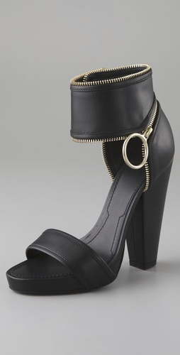 Givenchy Shoes Zipper Ankle Sandals