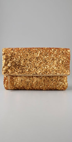 Halston Heritage Sequin Folded Clutch