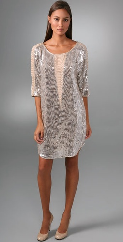 Haute Hippie Illusion Fringe Sequin Dress
