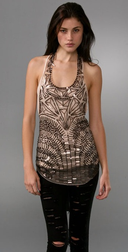 Armor Embroidered Mesh Top - Haute Hippie from shopbop.com