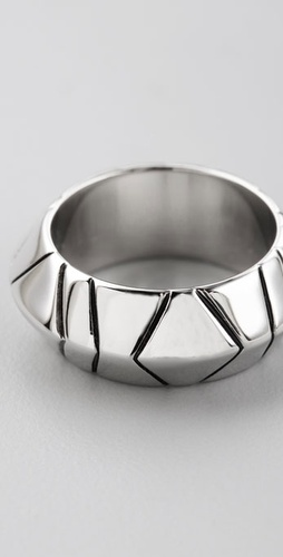 House of Harlow 1960 Palladium Thick Stacking Ring