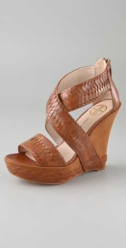 House of Harlow 1960 Veronika Woven Wedge Sandals