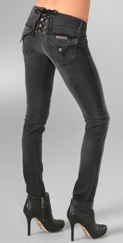 Hudson Lace Up Skinny Jeans