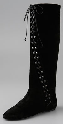 Jill Stuart Christabel Suede Lace Flat Boot - shopbop.com from shopbop.com