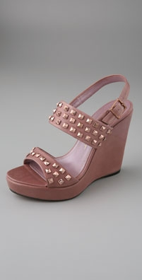 Jean-Michel Cazabat Andora Studded Two Band Sandals