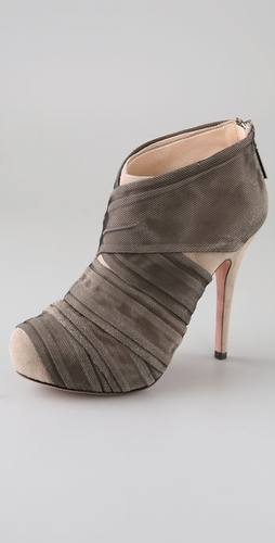 Jean-Michel Cazabat Zaida Suede Booties with Mesh Overlay from shopbop.com