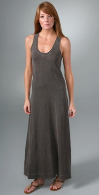 James Perse Racer Back Long Dress