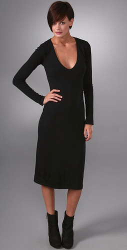 James Perse Extreme V Dress
