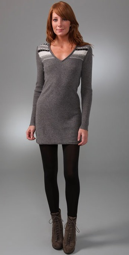 James Perse Fair Isle Sweater Dress
