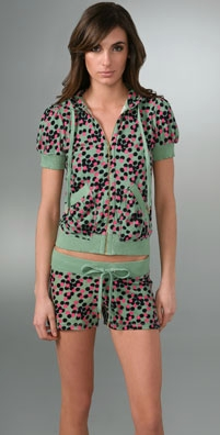 Juicy Couture Terry Dot Short Sleeve Hoodie