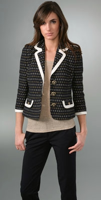 Juicy Couture Petite Fleur Jacquard Shrunken Jacket from shopbop.com